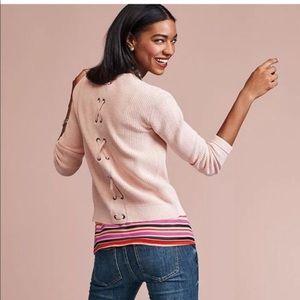 CAbi 3357 Eliza Pink Sweater Cardigan